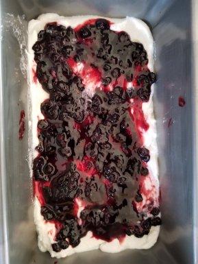 Diary Free ice cream with huckleberries