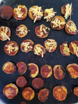 BBQ Sweet Potatoes with cheese or without