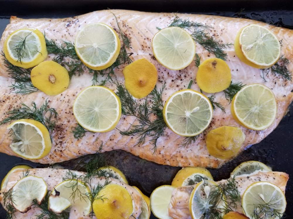 Keto Swedish Lemon and Dill Salmon