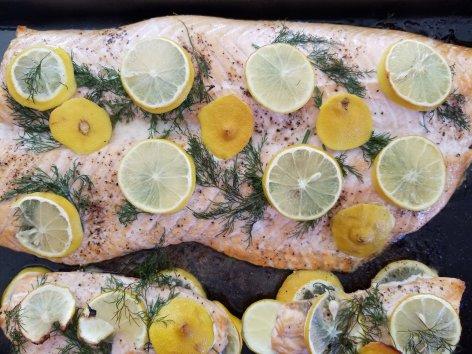 Keto Swedish Lemon and Dill Salmon
