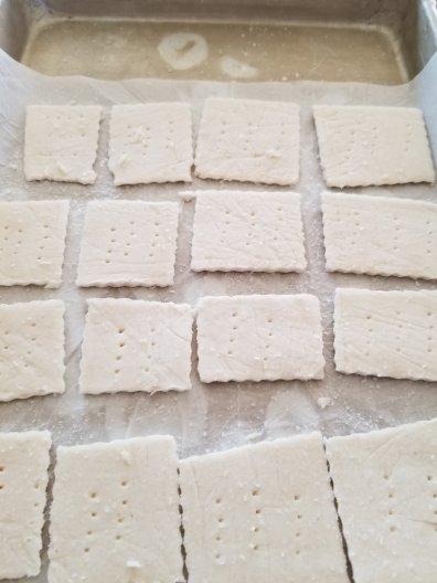 Grain Free Garlic Crackers