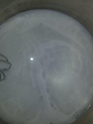 Gelatin with coconut milk