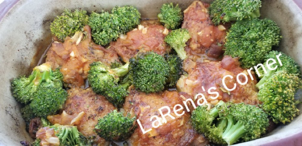 Apricot Chicken with Broccoli