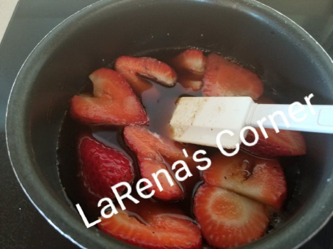 Strawberry Preserves cooking
