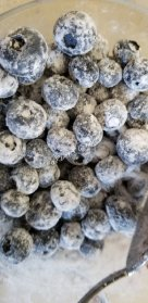 Blueberries and monk fruit sugar