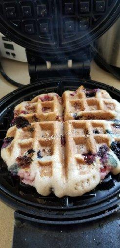 Strawberry Blueberry Waffles