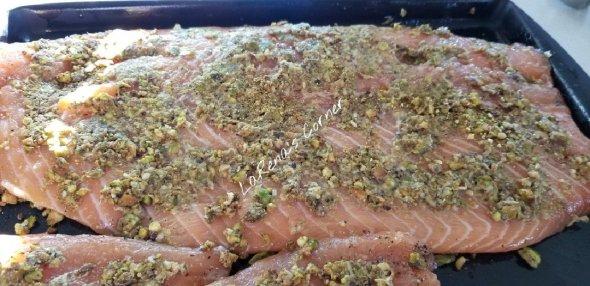 PIstachio Horseradish Salmon