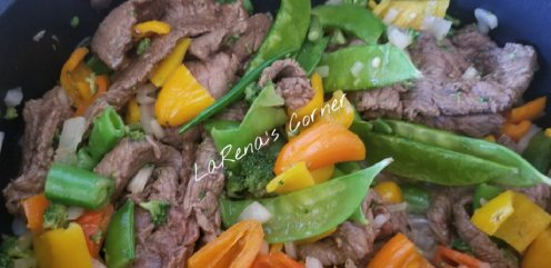 Peppercorn Beef and Vegetable