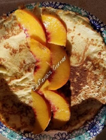 Fresh Peach Crepe's