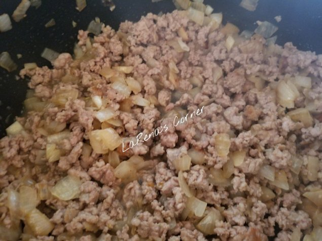 Sweet Italian Sasauge and chopped onions