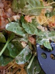 Spinach, veggies and Italian Sausage