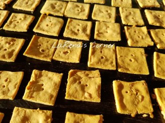 Cheese Crackers Love the way the sun hit the crackers and made them even more yellowish