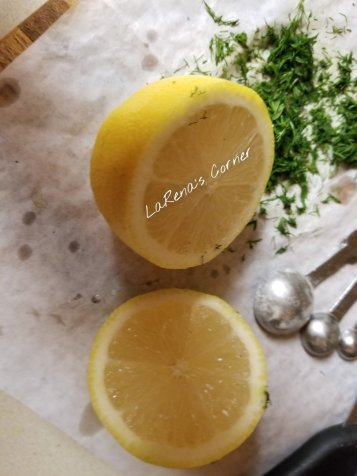 Lemon and chopped dill